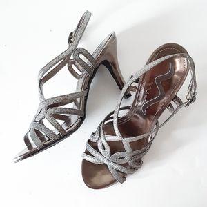 Nina | Gorgeous Gunmetal Shimmer Stiletto